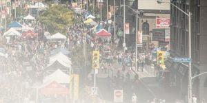 View of Street during Taste of the Kingsway Festival